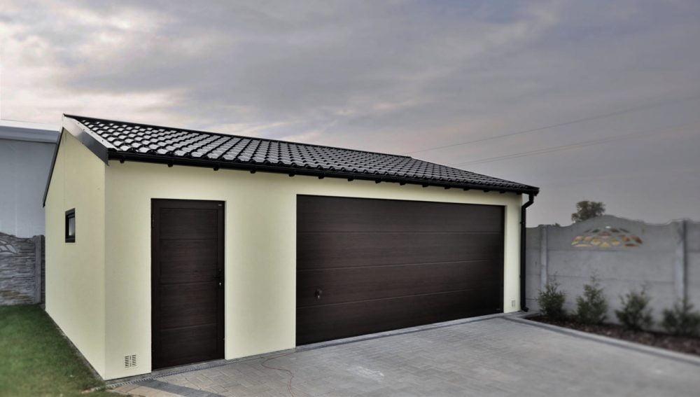 Garaż ocieplany Duo-Classic - 2 samochody + pomieszczenie gospodarcze, 9,0 x 6,0 m