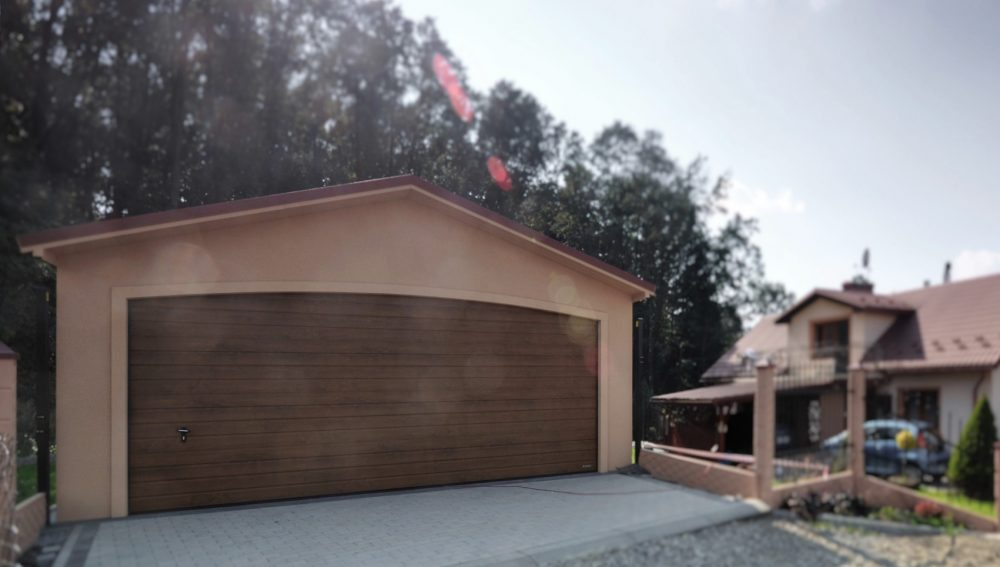 Garaż ocieplany Duo-Antica - 2 samochody, 6,0 x 5,80 m