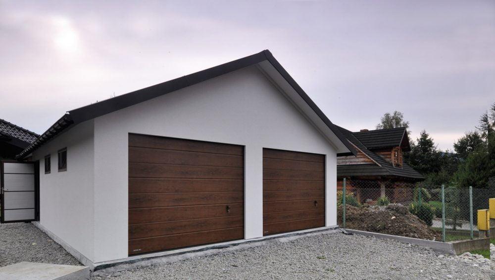 Garaż ocieplany Duo-Classic biały - 2 samochody, 6,0 x 5,80m