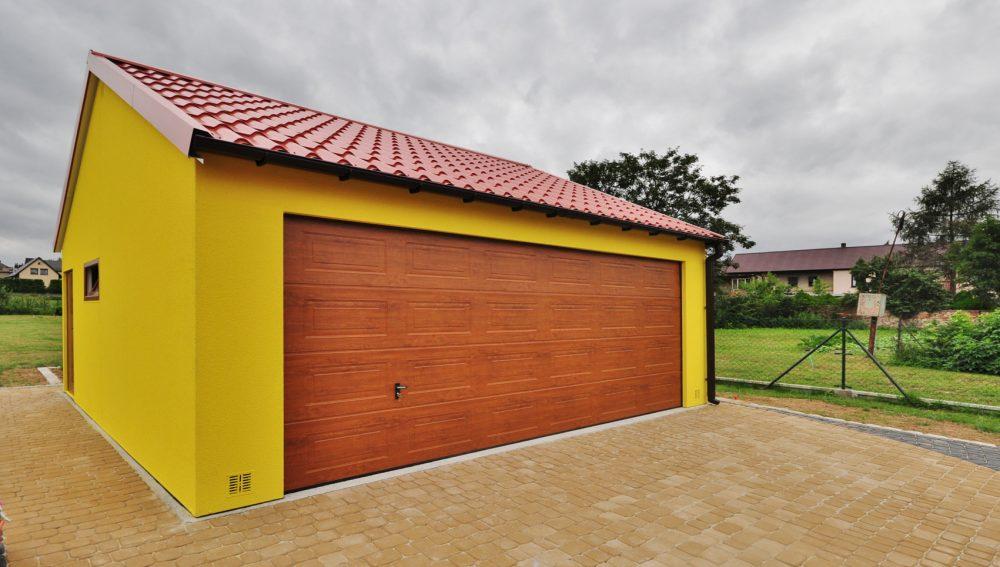 Garaż ocieplany Duo-Classic żółty - 2 samochód, 6,0m x 5,80m