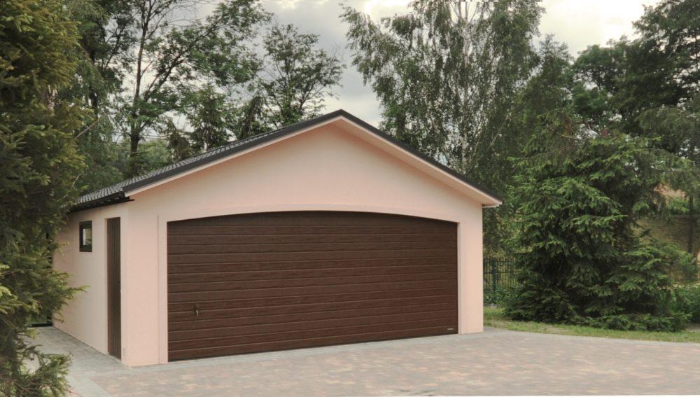 Garaż tynkowany Duo-Antica - 2 samochody, szer. 6,0m x dł. 5,80m