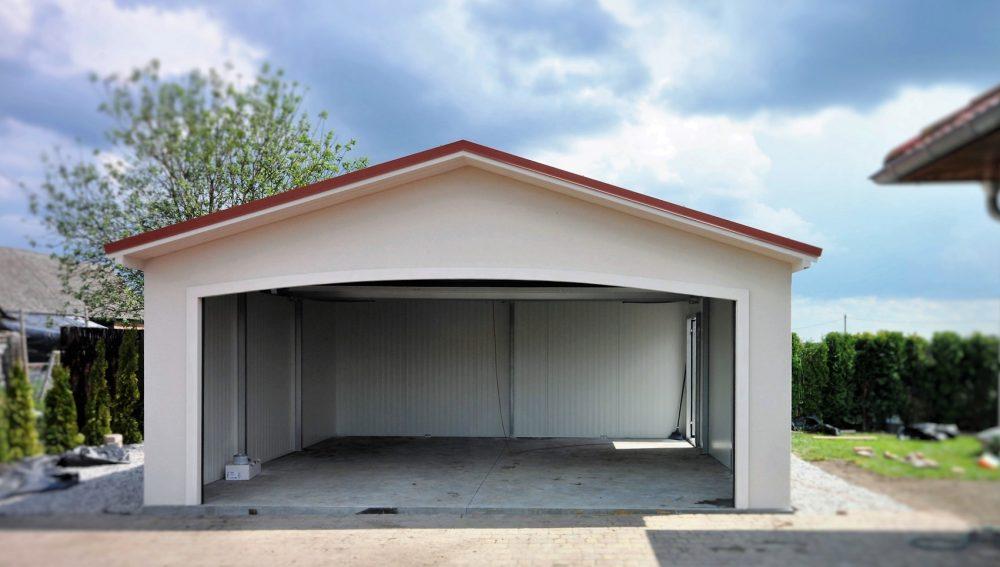 Garaż tynkowany Duo-Antica - 2 samochody, 6,0 x 5,80 m