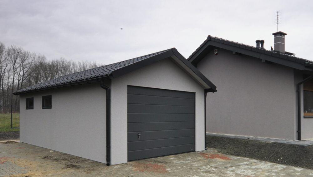 Garaż tynkowany Duo-Classic - jeden samochód, 4,0 x 6,0 m