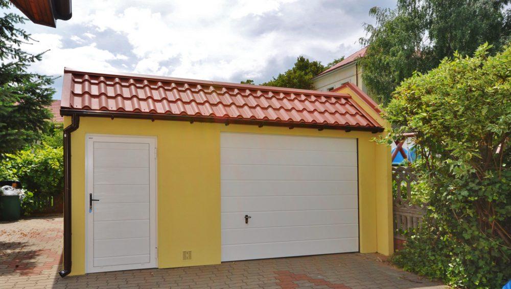 Garaż tynkowany Duo-Classic - 1 samochód + przestrzeń gospodarcza, 5,0m x 5,80m