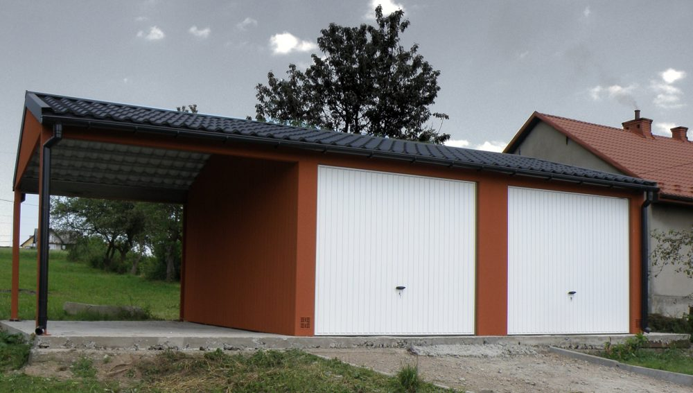 Garaż tynkowany Duo-Classic - 2 samochody + 9,0 x 5,7 m