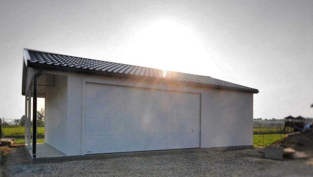 Garaż tynkowany Duo-Classic - 2 samochody, 9,0 x 6,0 m