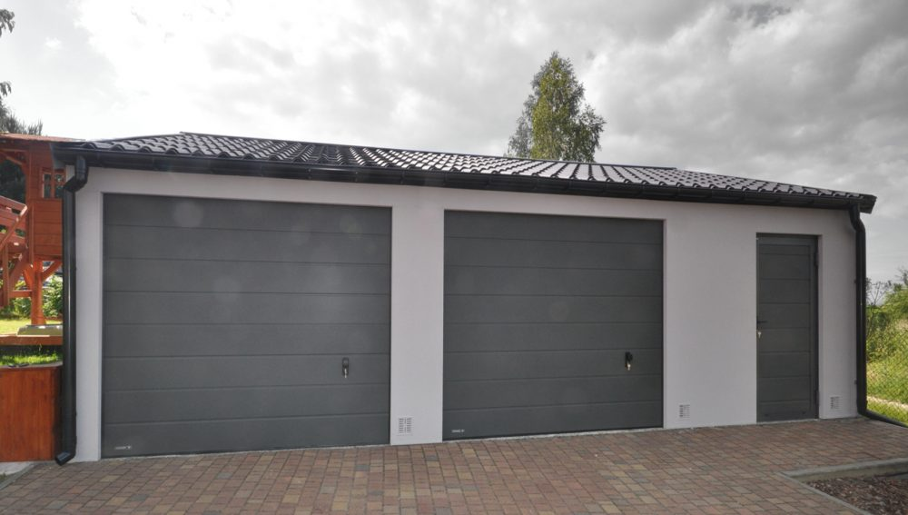 Garaż tynkowany Duo-Classic - 2 samochody + pomieszczenie gospodarcze, 9,0 x 6,0 m