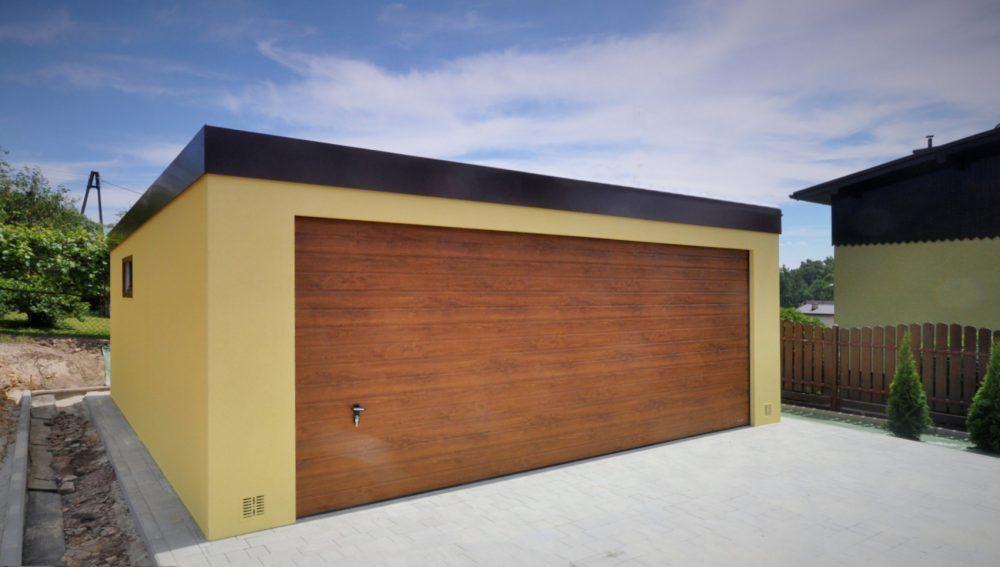 Garaż tynkowany Uno-Classic - 2 samochody, 6,0 x 5,80 m