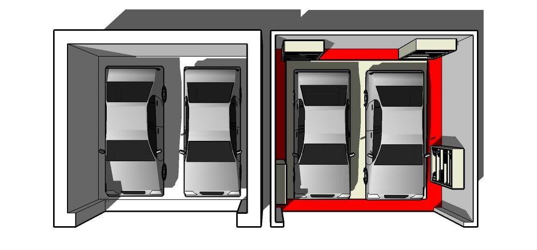 Garaż dla dwóch aut