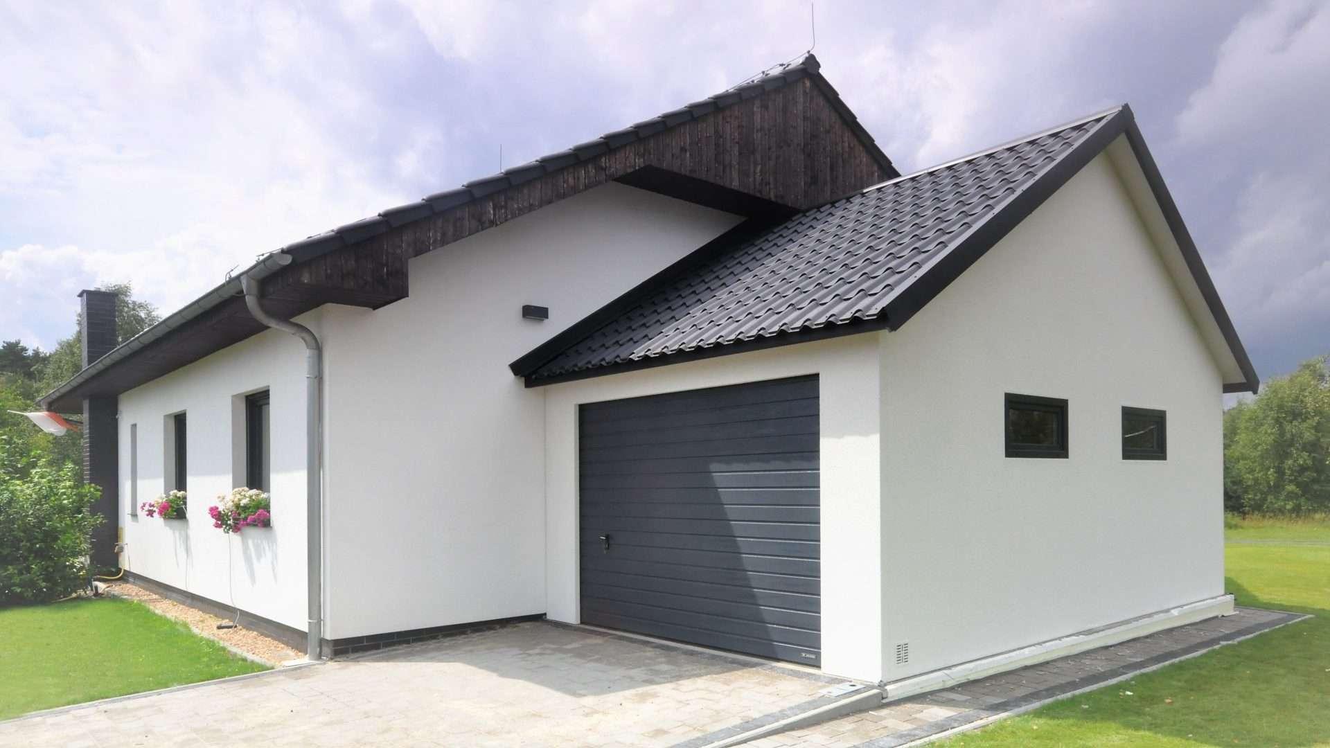 Garaż ocieplany bialy Duo-Classic 6,0 x 5,7 m