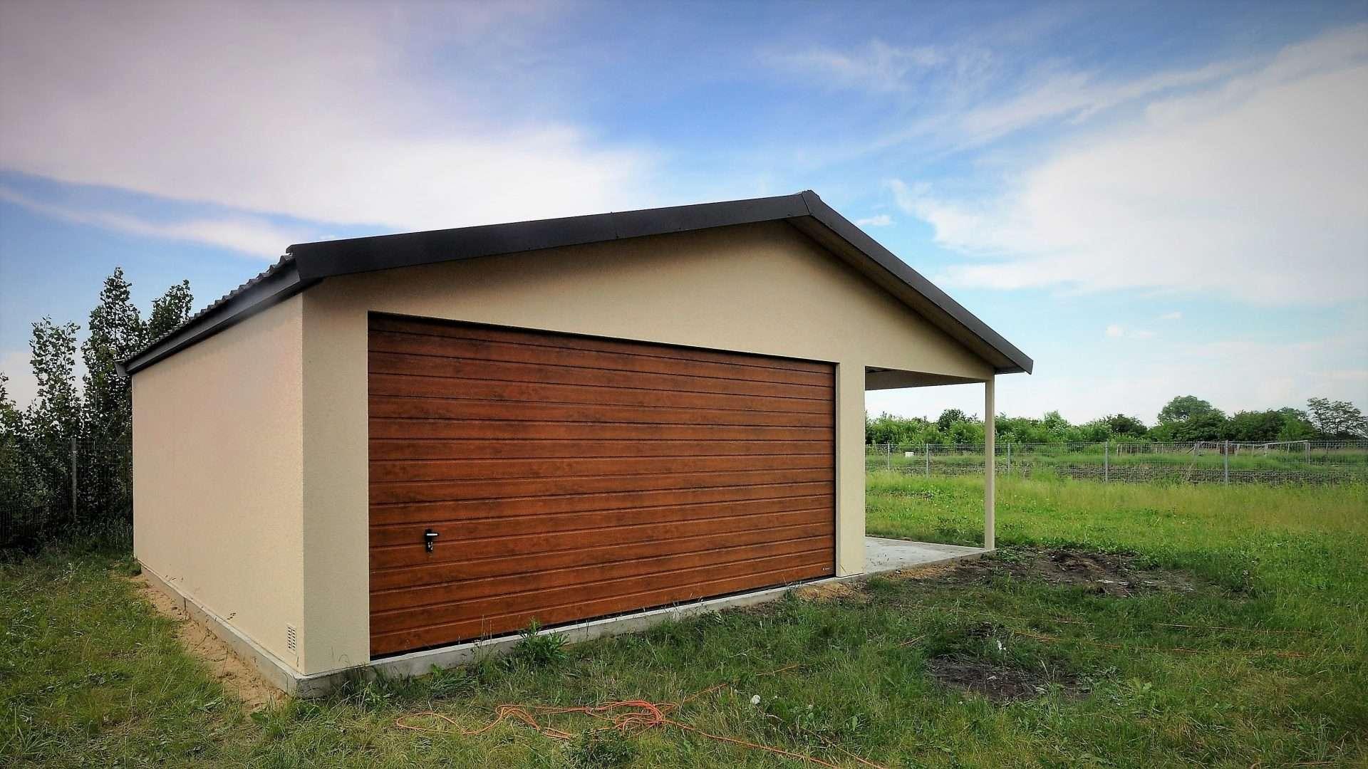 Garaż ocieplany Duo-Classic - wiata, 6,0 x 5,7 m