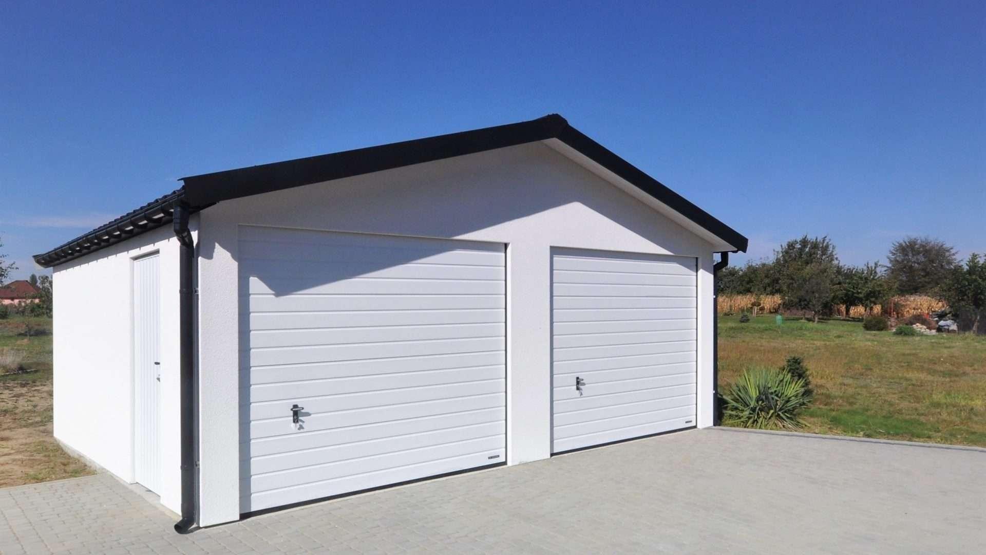 Garaż ocieplany Duo-Classic, 2 samochody, wymiary 6,0 x 6,7 m