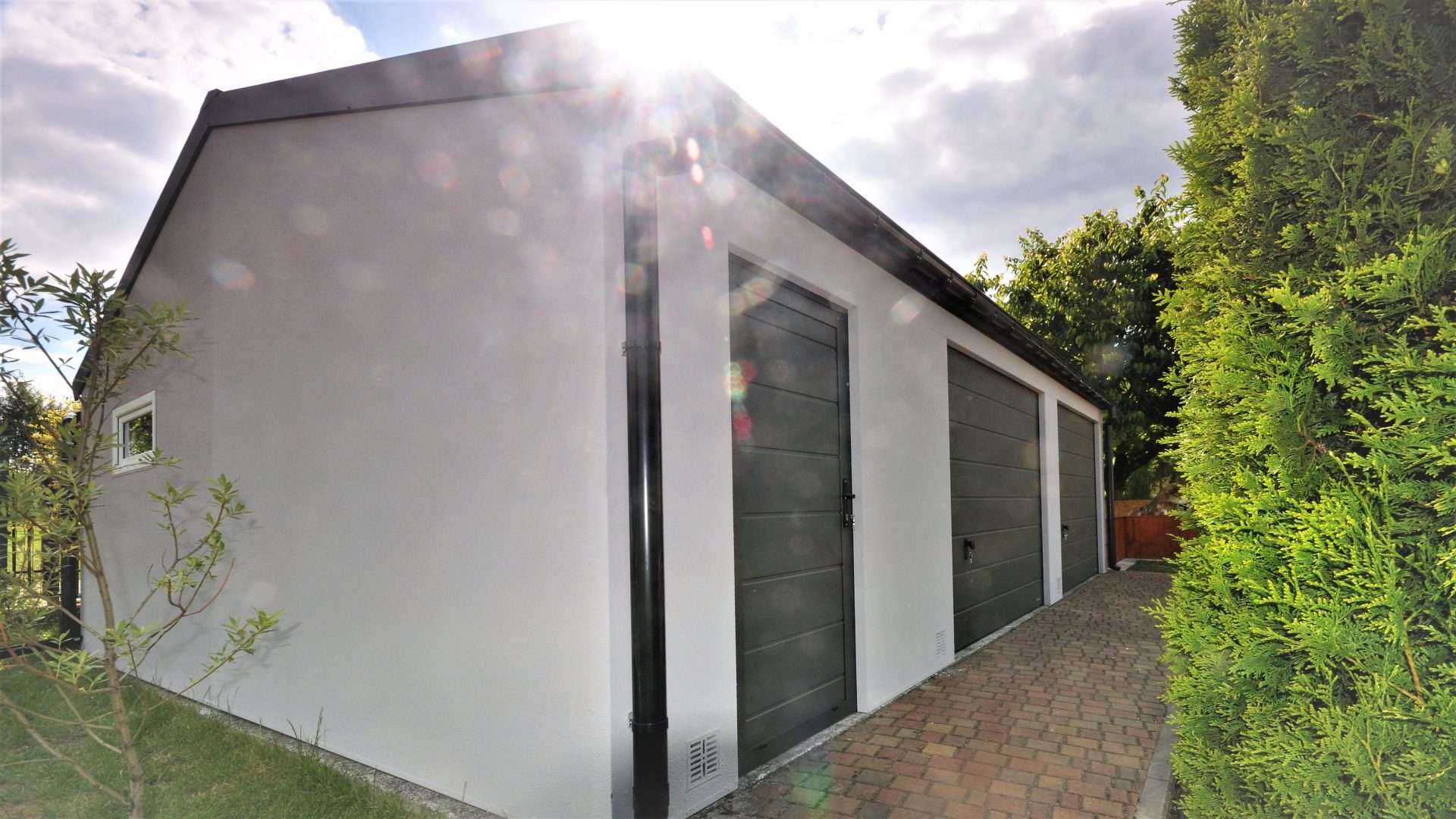 Garaż ocieplany Duo-Classic - 2 samochody, 9,0 x 5,7 m
