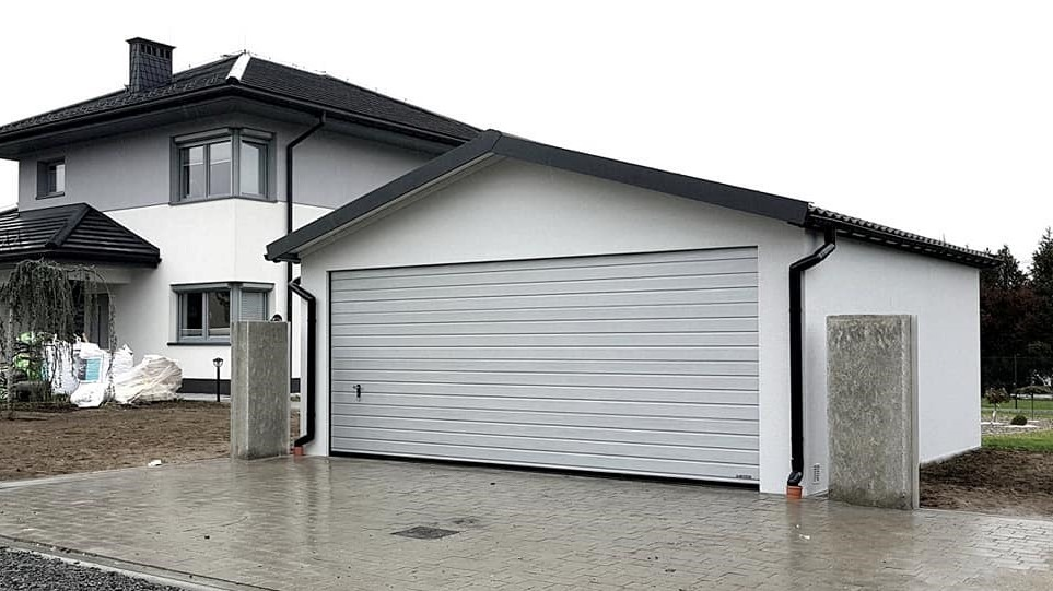 Garaż tynkowany Duo-Classic - 2 samochody, 6,0 x 5,7 m