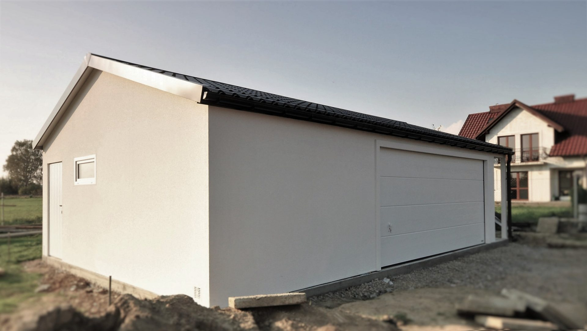 Garaż tynkowany Duo-Classic - 9,0 x 5,7 m