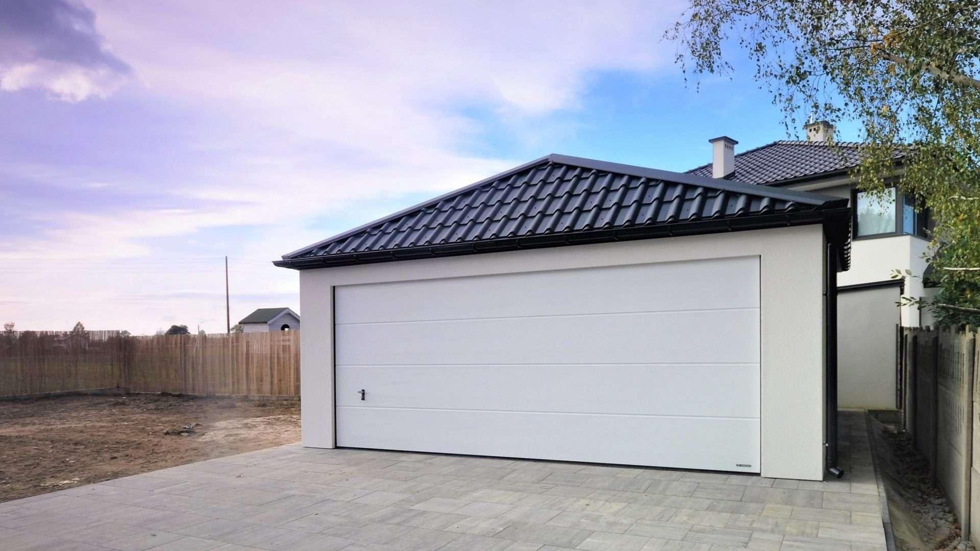 Garaż tynkowany Quatro-Classic - 2 samochody, 6,0 x 5,7m