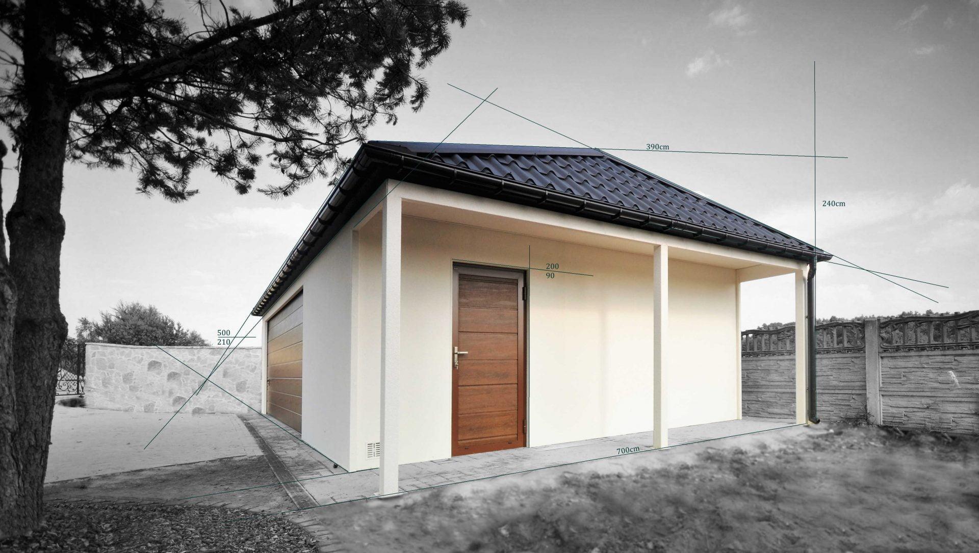 garaż wolnostojący projektowanie