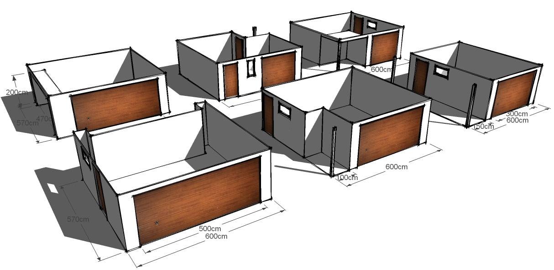 Projekt garaże wolnostojące