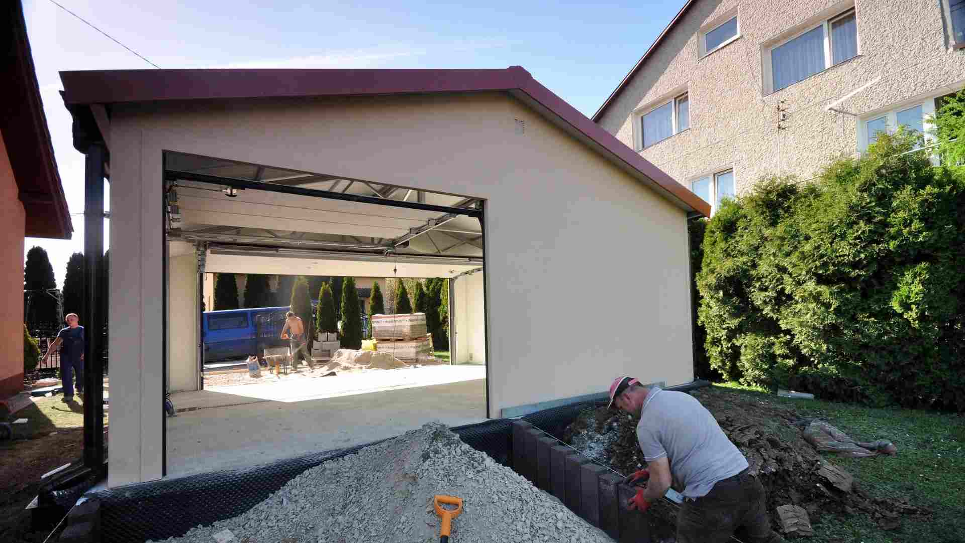 Garaż ocieplany Duo Classic - zdjęcie z budowy